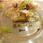 saveur - 3.カスベとポロ葱のテリーヌサラダ仕立て