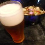 粥茶屋 写楽 - たまらずビールを