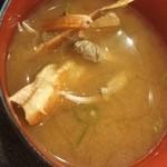 ご当地酒場 北海道八雲町 - 味噌汁は蟹汁