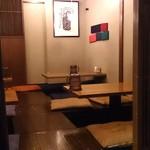 藁焼きと四国料理88屋 - はちはちや 丸の内店 奥に掘炬燵式の座敷席もあります