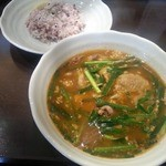 29313851 - 鶏ハツと納豆のスープカリー&雑穀米