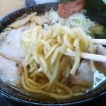 しゃがらラーメン 肉ばか - 味噌チャーシューの麺