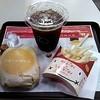 ロッテリア - 料理写真:チーズバーガーMセット☆税込530円(2014/7)
