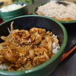 ゆで太郎 - 料理写真:ぶた丼セット