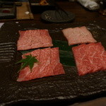 29325653 - 特選カルビ3種+1種サービス(羽後牛、神戸牛、仙台牛、松阪牛)