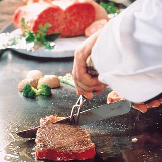 黒毛和牛を使ったステーキ