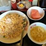慶珍楼 - 新橋で炒飯700円、ここの定食は量が多いので有名なので、今回は単品にしてみました。やっぱり多かった、、、。(>_<)