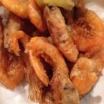 広島風お好み焼き れんが亭 - エビの天ぷらもナイスです