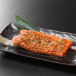 鰊御殿 - 鮭ハラスねぎ味噌焼