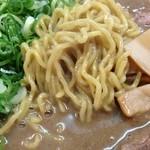 天骨庵 慶心 - 慶心の天骨麺の麺(14.07)