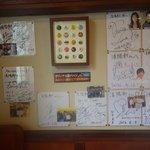 久留米ラーメン清陽軒 - 有名人のサインがびっしり