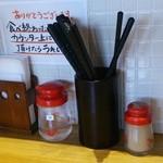 竹田の中華そば こっとん - 26.07.26調味料は少なめ
