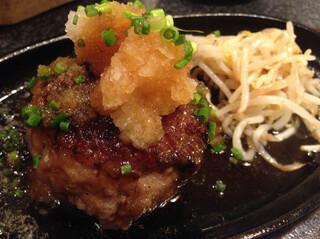 肉の匠 将泰庵 本店 - 2014/7 ハンバーグにポン酢を掛けた所