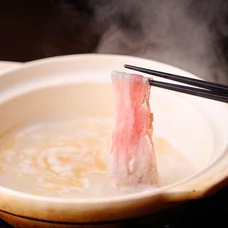 薩摩特産の「もち豚」を存分に堪能!特製しゃぶしゃぶ鍋!