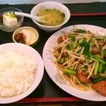 中華料理 栄楽 - レバニラ定食