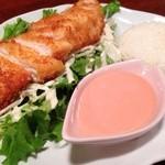 鶏Dining Bird Place - [ランチメニュー]チキンカツサラダランチ ¥800