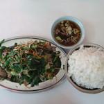 まこと食堂 - レバニラ定食(レバニラ・ご飯とも大盛り)(870円)