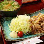 黒豚の生姜焼き御膳+ビュッフェ付