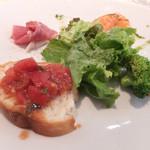 ポルト ポルテ - 本日の前菜4種とサラダ
