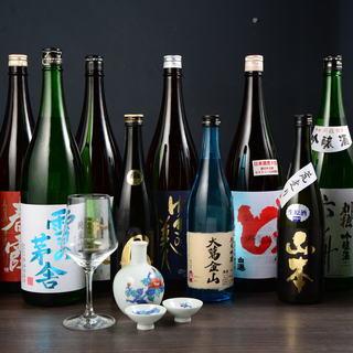 日本酒、約20種類を常備!焼酎、日本酒も飲み放題メニューに!