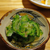 Onnatomisoshiru - 料理写真:ゴーヤーのお浸し