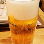 食道楽 - 生ビール599円
