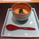 29367633 - 2014.07 トマトの冷製茶碗蒸し バジルのムース・じゅんさいと一緒に