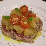 ボッチォ - カツオとグレープフルーツの前菜