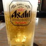 バリバリ鶏 高田馬場店 - 生ビール