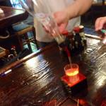 八幡や - 日本酒は、升で並々と〜〜
