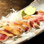 土竜 - 地鶏のタタキ 680円