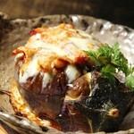 土竜 - 加茂茄子と木の子とベーコンのグラタン 750円