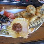 天草 海鮮蔵 - 単品で追加した黄金ハモフライ。700円台くらいだったような。