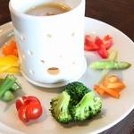 新鮮野菜のバーニャカウダ