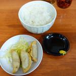 船場ラーメン - 揚餃子セット