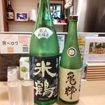 なか屋 - 日本酒「米鶴 亀粋 特別純米酒 と 純米大吟醸」の飲み比べセット^^