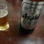 牧野お好み焼 - ビール(アサヒスーパードライ)