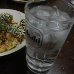 牧野お好み焼 - 麦焼酎(いいちこ)