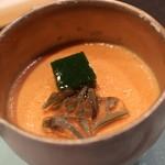 29394942 - トマトの冷製茶碗蒸し バジルのソース、じゅんさいと一緒に