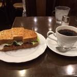 29403770 - サンドイッチセット(サラダは食べてしまいました)