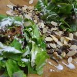 ガレット エ ポムポム  - ナッツと信州の茸サラダガレット