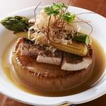 十二の月 - 冬の加賀野菜 源助大根のステーキ