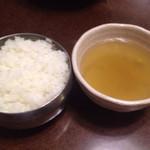 ヌルンジ サランバン - ご飯とスープ