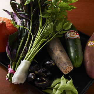 地元の美味しい野菜料理がいっぱい!