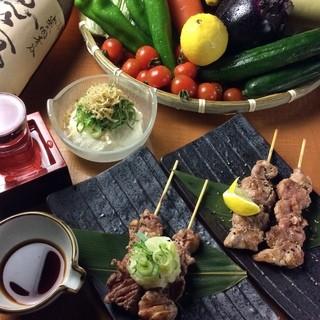 京都の旬野菜と自慢の炭火焼鳥