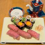 助八寿司 - 料理写真:イチオシ!牛セット