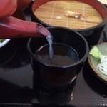 美濃屋 文右衛門 - 蕎麦湯アップ