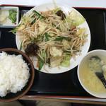 ラーメンとん太 - 野菜炒め定食 750円+税