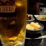 はげ坊主 - 生ビール & ラッキョウ