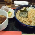 瓦町どら鴨 - 1-2)つけ麺+ランチセット